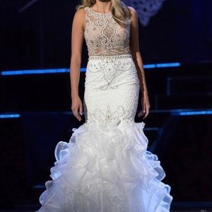 White Jovani gown